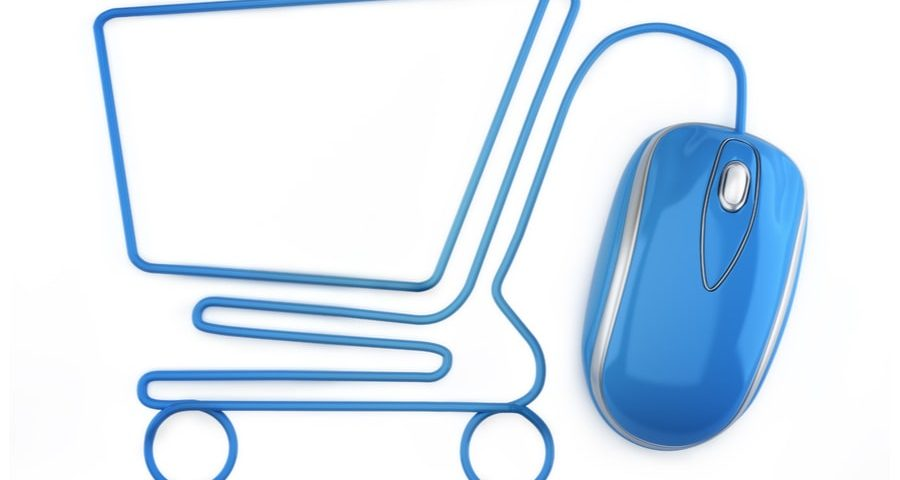shopping cart drawn from mouse cord